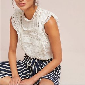 Anthropologie Maeve Victoria Lace Blouse